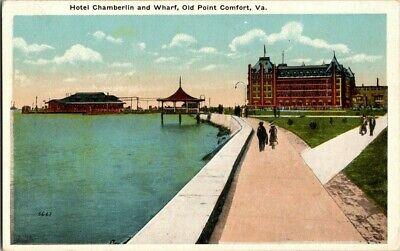Nuttig 1917. Hotel Chamberlin & Wharf, Old Point Comfort, Va. Postcard Ck7