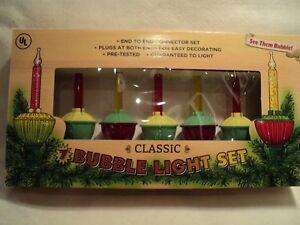 Kurt-Adler-034-CLASSIC-7-LIGHT-BUBBLE-LIGHT-SET-034-New-1950-039-s-CLASSIC