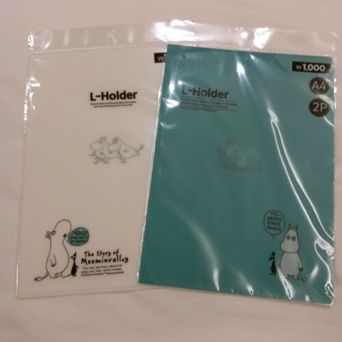 New MOOMIN VALLEY Moomintroll A4 Plastic Folder 2 Pieces Set