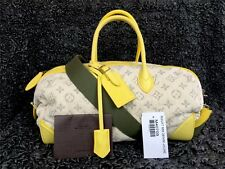 LOUIS VUITTON LV 2012 Monogram Denim Speedy Round M40709