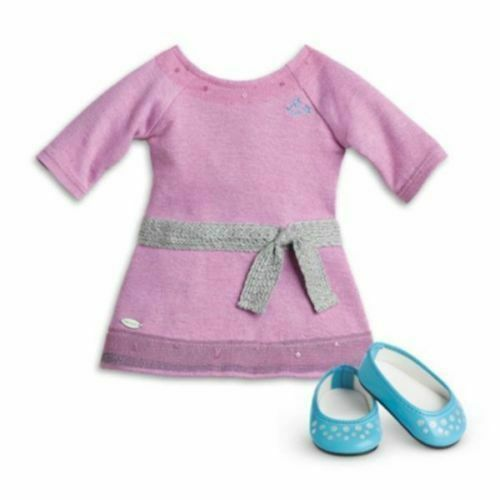 "18/"" American Girl Doll Clothes LAVENDER SWEATER Star Truly Me ACCESSORIES NEW"