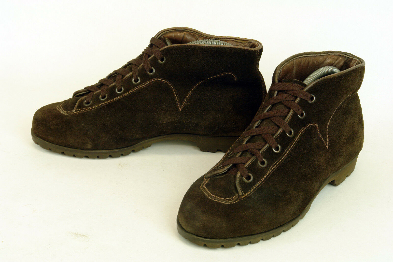 DUNHAM'S *  TYROLIANS * ITALY * DUNHAM'S HIKING BOOT IN BROWN SUEDE * 7 * EXCELLENT dc9097