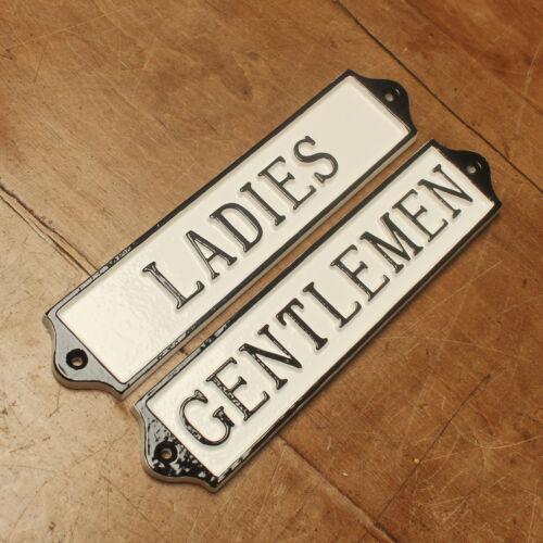 LADIES /& GENTS TOILET DOOR SIGN ANTIQUE VINTAGE PUB CAFE RESTAURANT BATH16/&17-wh