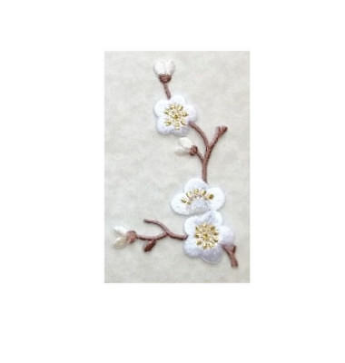 Pink Cherry Blossom Quince L Spring Flower Embroidered Iron On Patch