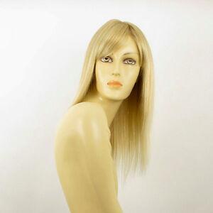 Perruque-femme-mi-longue-blond-dore-meche-blond-tres-clair-VERA-24BT613