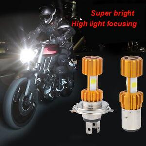 H4-H6-18W-LED-3-COB-Motorcycle-Headlight-Bulb-2000LM-6000K-Hi-Lo-Beam-Light-HQ