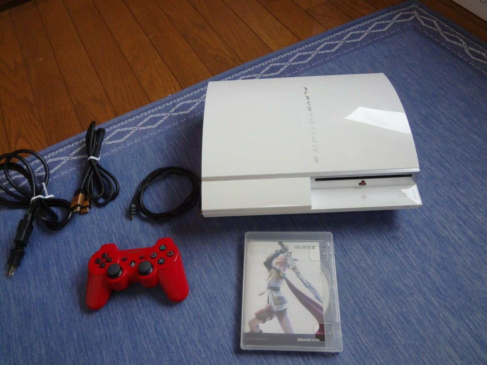 SONY Playstation 3 PS3 White Console system set Tested Work