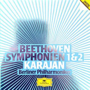 Beethoven-Karajan-Berliner-Philharmoniker-CD-Symphonien-1-amp-2-Germany