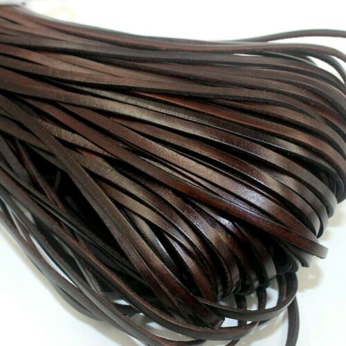 2 Meters Retro High Quality Genuine COW Leather Cord Round-Flat 1.5-10 mm Thick