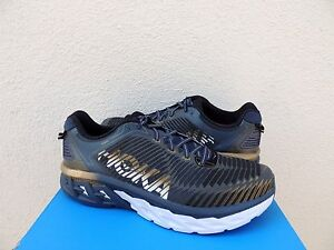 1178a4b9d6c5 Image is loading HOKA-ONE-ONE-ARAHI-WIDE-NAVY-GOLD-RUNNING-