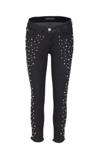 Revise  Jeans donna Denim 5 tasche con borchie RD121F970