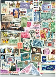 Lot-of-50-different-MINT-US-Postage-Stamps-Vintage-Packet-MNH-unused