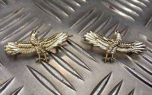 Genuine-Military-Issue-Air-Force-Type-Wingspan-Eagle-Matching-Metal-Badges-MFCD7