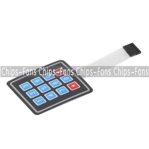 2//5PCS 4x3 Matrix Array 12 Key Membrane Switch Keypad Keyboard For Arduino AVR