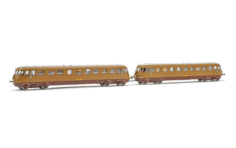 Rivarossi HR2749 2 Unit Set Diesel Railautos Aln 556 Castano Isabella Livery nuovo