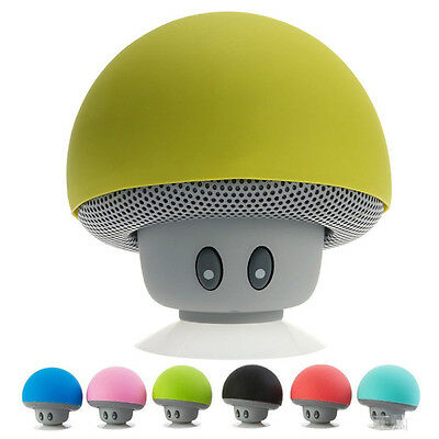 Waterproof Wireless Mini Bluetooth Mushroom Portable Stereo Speaker iPhone RF