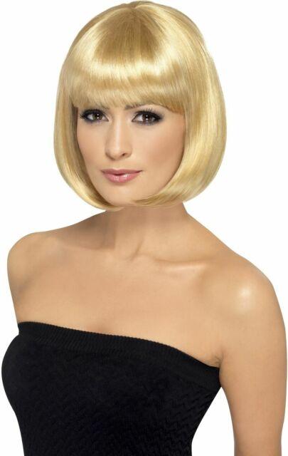 Smiffys 12-inch Partyrama Wig Short Bob with Fringe - Blonde