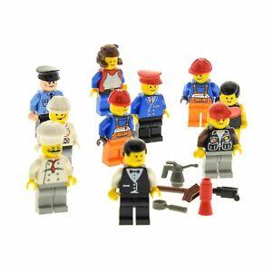 10-x-Lego-systeme-Minifiguren-PERSONNAGES-ACCESSOIRES-CHAPEAU-par-hasard-melange