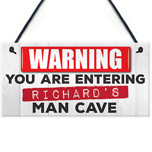 Personalised-Warning-Man-Cave-Hanging-Plaque-Shed-Pub-Bar-Sign-FATHERS-DAY-GIFT