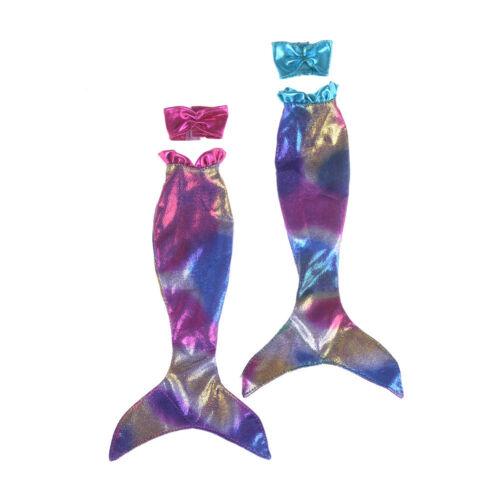 Handmade Mermaid Top Tail Dress Fairytale Clothe  For Doll Girl Toy JH