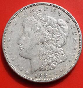"1 ""morgan"" Dollar 1921-philadelphia Silber, Km# 110, #f 2496, Ss-vf Freigabepreis"