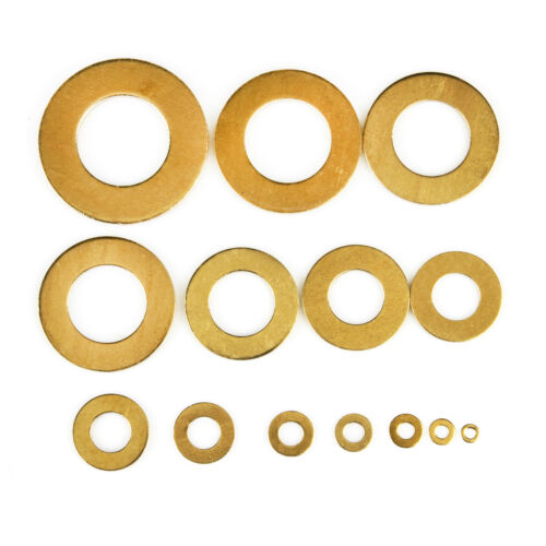 50//100//200//500pcs Metric Brass Flat Washer Copper Plain Washer M5*10*1mm
