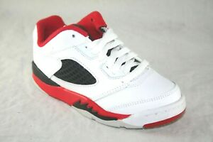 san francisco 78262 915af Details about YOUTH JORDAN RETRO 5 LOW (PS) 314339-101 WHITE/FIRE RED  ACTIVE SNEAKER