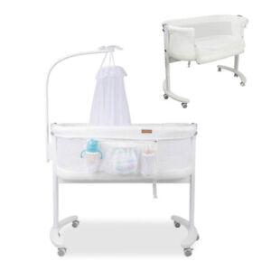 Bedside Newborn Baby Bassinet Cot Crib Sleeper Bed W Mosquito Net