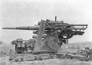 WWII-B-amp-W-Photo-German-88mm-Gun-Position-WW2-World-War-Two-Wehrmacht-Germany