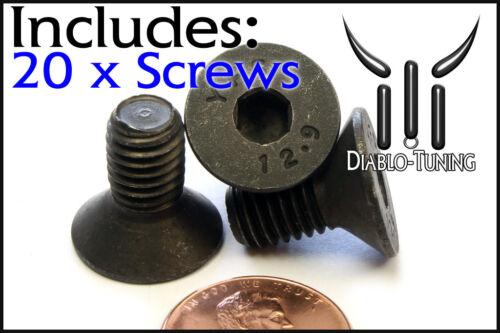 8mm x 1.25 x 16mm FLAT HEAD Socket Cap Screws Countersunk Class 12.9 Qty 20