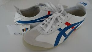 the best attitude 0e207 16ec3 Details about New Men's Size 11.5 Asics Onitsuka Tiger Mexico 66 White Red  Blue HL202 0146