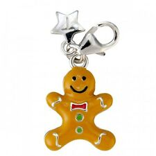 TINGLE LONDON GINGERBREAD SILVER CHARM,New, Charms, SCH86, Jewellery, Boxed