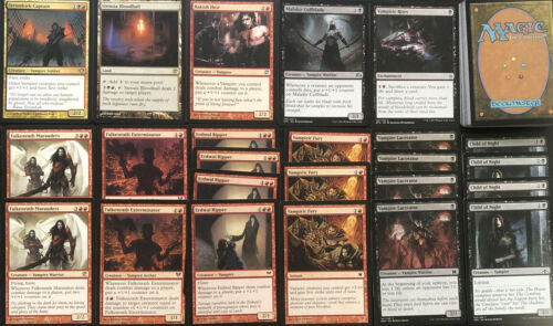 Ready To Play 60 Cards Mtg BLACK RED VAMPIRE DECK