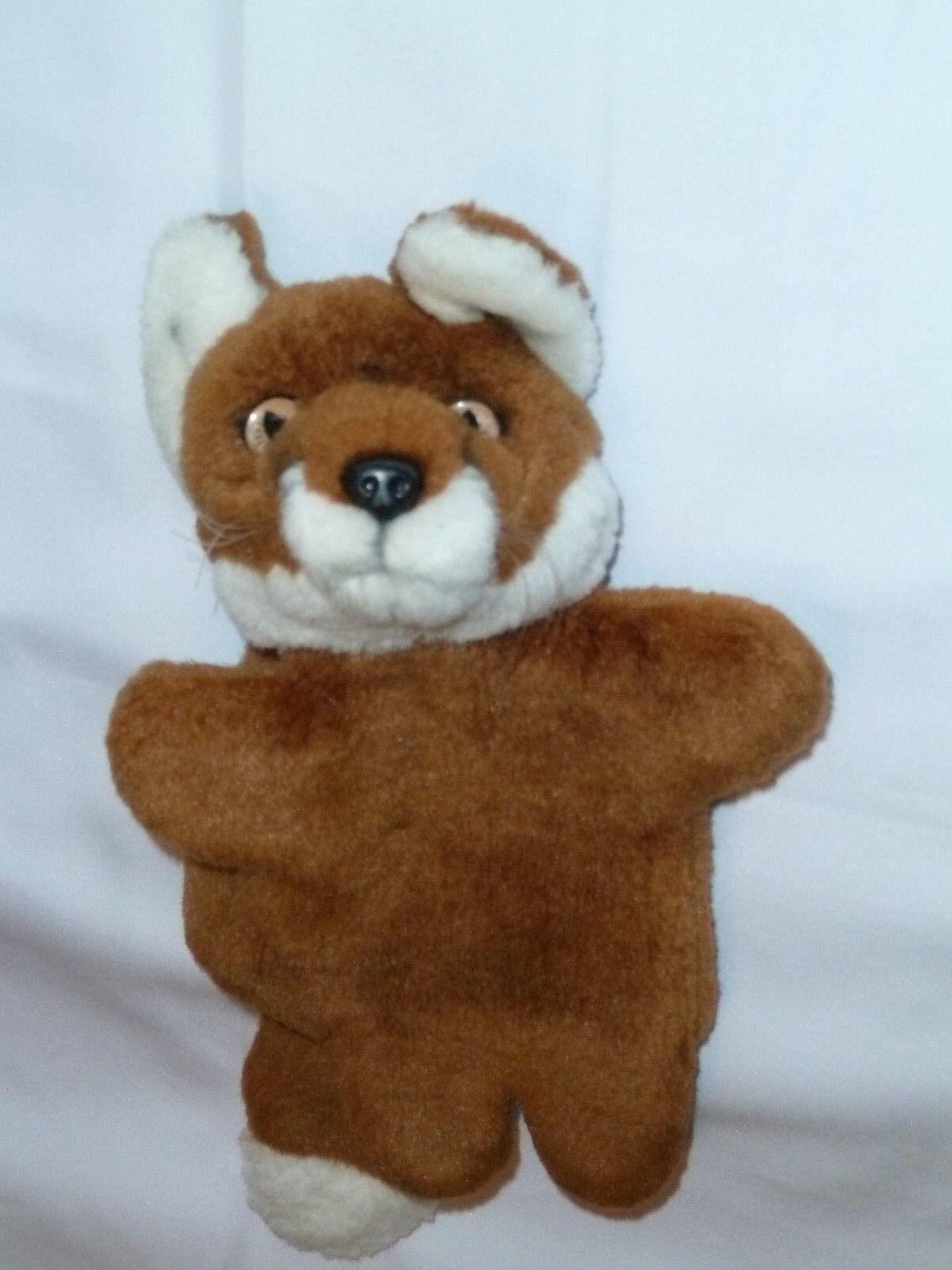 11 11 11  VINTAGE FOX STUFFED PLUSH HAND PUPPET 66dfd4