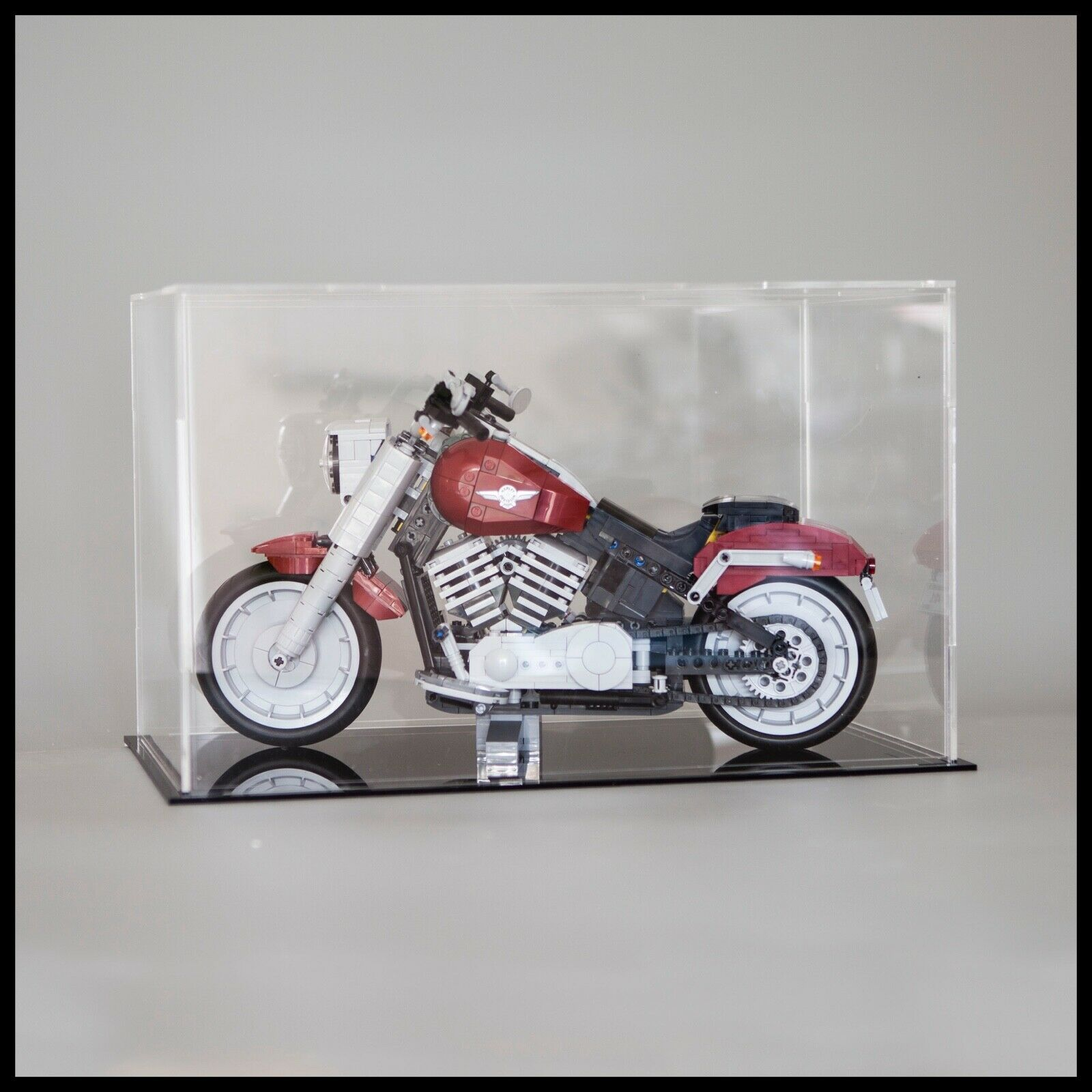 Harley-Davidson® Fat Boy®Acrylic Display Case For The LEGO Model 10269