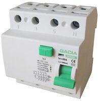 Fehlerstromschutzschalter SR6HE 4P 40A/100mA AC FI Schalter Schutzschalter
