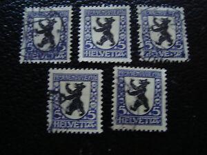 Switzerland-Stamp-Yvert-and-Tellier-N-214-x5-Obl-A14-Stamp-Switzerland