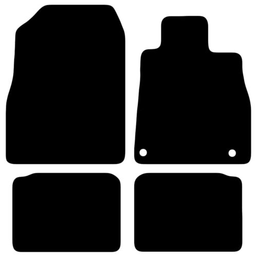 Fully Tailored Black Car Floor Mats Carpet 4pc 2 Clips FOR Nissan Micra 2017+