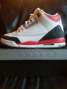 e28306a2748275 AIR JORDAN 3 RETRO GS BG FIRE RED Sz 4.5Y 398614-120