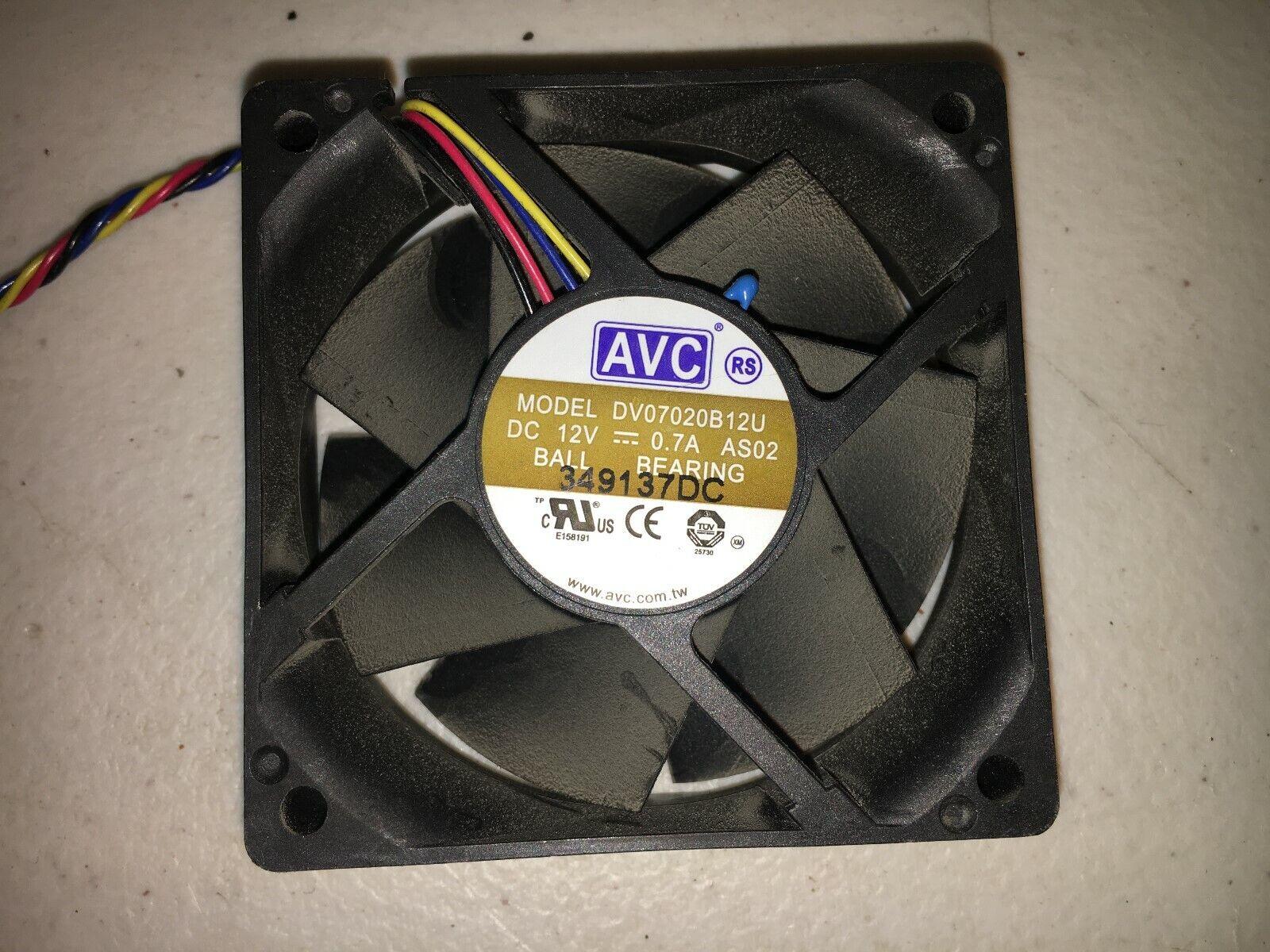 ! AVC 7020 DV07020B12U Fan 12V 0.7A 4pin 70*70*20mm PWM Chassis Cooling Fan