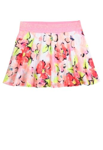 Girls 16 NWT Justice Skort Skirt Lace OverLay Chevron Floral Glitter Waist