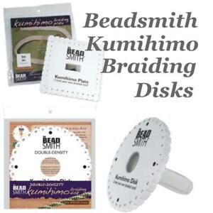 Details about Beadsmith Kumihimo Braiding Disk Choose Round Disc, Square  Plate, Kumi-Handle