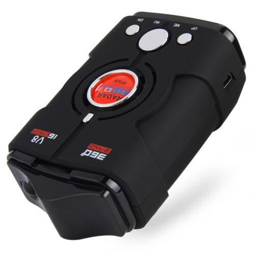 V8 360 Degrees 16 Band Scanning LED Radar Detector Car Speed Testing System New