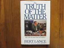 BERT LANCE (Died-2013)Signed Book(THE TRUTH OF THE MATTER-1991 1st Edit Hardback
