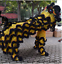 Black-Lion-Dance-Mascot-Costume-Suit-Chinese-Folk-Art-Wool-Southern-Two-Adults thumbnail 6