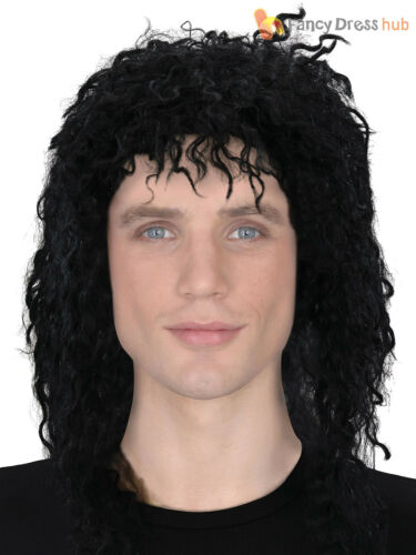 Mens Guy Wig Adults Halloween Michael Jackson Thriller Fancy Dress Accessory