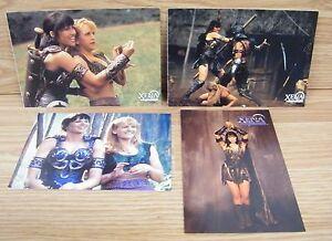 "Lot of 4 Genuine Xena Warrior Princess 4 x 6"" & 4 1/2"" x 6 1/2"" Postcards *READ*"