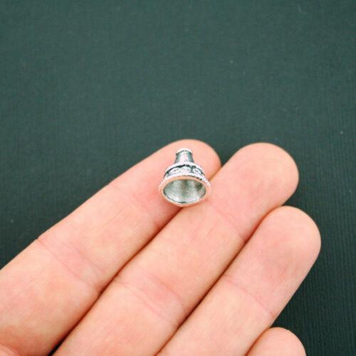SC3121 12 Bead Caps Antique Silver Tone Cone 11mm