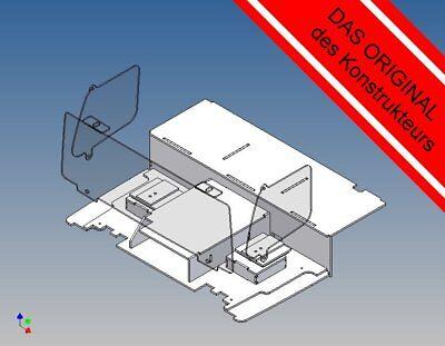 VLFK M 1:14 Fahrerhausboden für Tamiya Volvo FH12 Scheiben + Sitzkonsolen