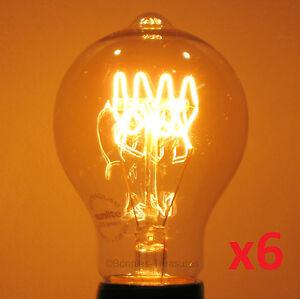 2-Pack LUMIN 30W A21 Edison Victorian Squirrel Cage Antique Light Bulb 120V//240V